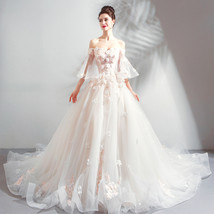 Wedding Dress With Sleeve Organza Pricess China Women Bridal Gowns  2019... - $130.00
