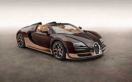 2014 Bugatti Veyron Grand Sport Rembrandt 24X36 inch poster, sports car,  - $18.99