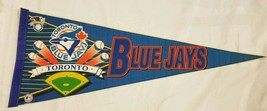 Vintage Toronto Blue Jays Pennant 90s Wincraft Made In USA Baseball MLB - $19.59