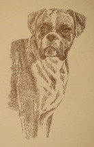 BOXER DOG ART uncropped Signed Print Stephen Kline adds your dogs name f... - $49.45