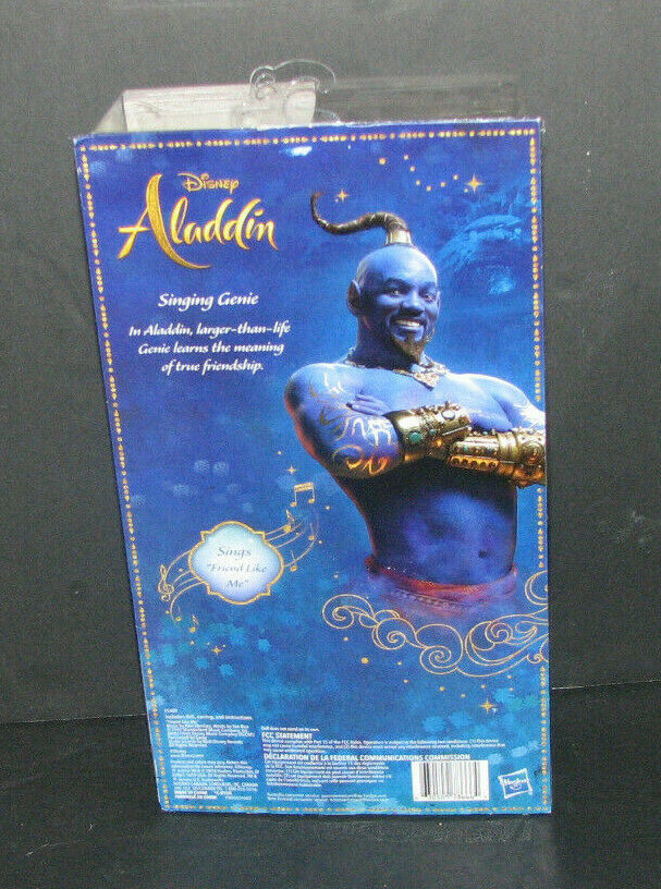 Disney Aladdin Singing GENIE Doll Will Smith Sings Friend Like Me NEW