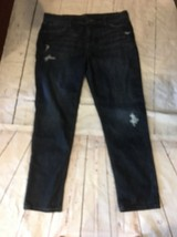 New Joe Joe's Jeans Boyfriend distressed ripped SZ 31 Dark Blue Women's - $51.38