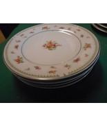 "beautiful ALICIA by DANIELE Fine Porcelain China 4 BREAD-SALAD Plates 6.25"" - $15.65"