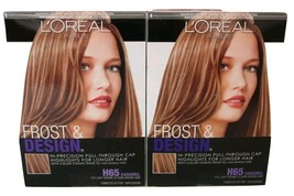 2 L'oreal Frost & Design Hair Dye Color Highlights H65 Caramel lot pack - $29.99