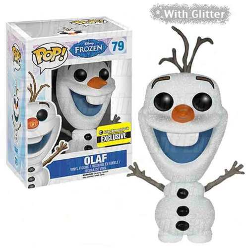 Glittery Disney Frozen Olaf POP Vinyl by Funko, Special Collector Edition 3 3/4