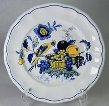 "Spode Blue Bird 6-3/4"" Bread Plate S3274 Copeland Scalloped Rim - $6.00"