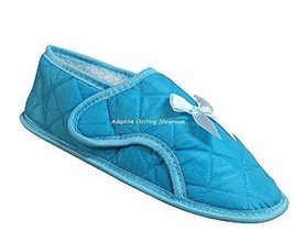 Womens Edema Slippers for Swollen or Bandaged Feet(M (7-8), Aqua) - $28.79