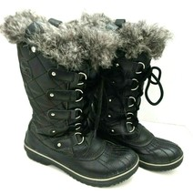 Sorel Womens Size 7 TOFINO II Waterproof Tall Boots Black Snow Winter  - $79.19