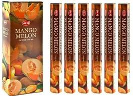 Hem Mango Melon Incense Stick Beautiful Handmade Natural Fragrance 6 x 20 Stick - $16.23