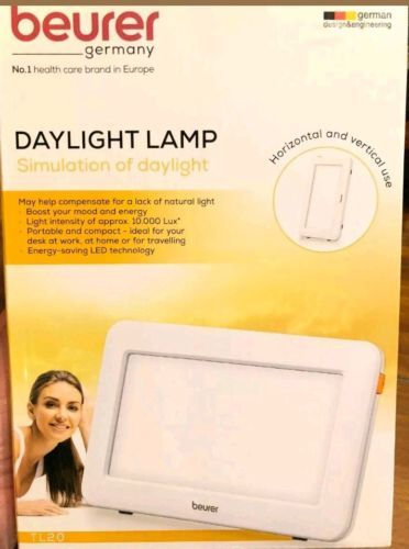 Beurer Germany Daylight Table sunlight Lamp w/ LED Bulb 10,000 Lux Bright White