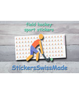 field hockey   planner stickers   sport   for planner and bullet journal - $3.00+