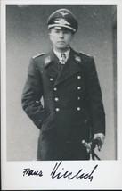 Franz Kieslich signed  photo. Luftwaffe-Oakleaves winner. Flew 1078 miss... - $38.00