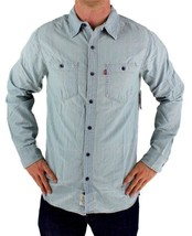 NEW LEVI'S MEN'S COTTON CLASSIC LONG SLEEVE DENIM BUTTON UP DRESS SHIRT-8151700