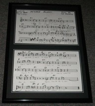 Sesame Street Theme Song Lyrics Official Repro Framed 20x28 Display - $83.79