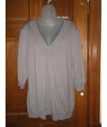 Fashion Bug Gray V-Neck Sweater - Size 2X - $15.83