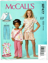 McCALLS PATTERN 477 CHILDREN'S/GIRLS' TOPS DRES... - $4.00