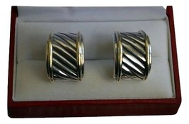 Iconic Vintage Yurman Sterling / 14K Gold Cable Earrings - $331.65