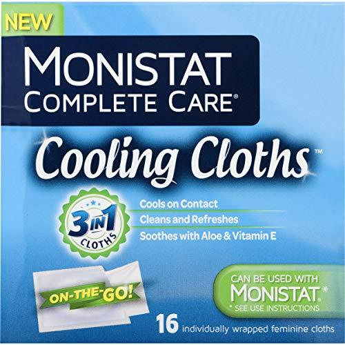 Monistat Care Cooling Cloths | Cools & Soothes | Paraben-Free | 16 Count | 3 Pac
