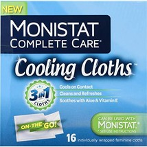 Monistat Care Cooling Cloths | Cools & Soothes | Paraben-Free | 16 Count | 3 Pac image 1