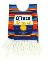 Corona Light Beer Poncho Blanket Bottle Cover Cinco Bright Orange & Blue - $14.89
