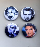 Set of 4 Assorted Pins # 2 1.5 inch Metal - $5.95