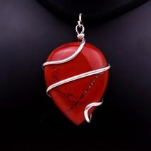 Beautiful Natural Red Jasper Heart Shape Spiral Pendant Healing Power Pe... - $14.85