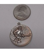 Vintage Hockey Pendant Necklace Charm - $11.33