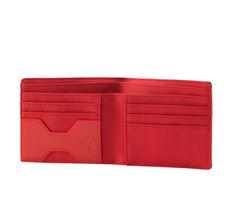 Puma Ferrari Men's Scuderia Ferrari Shield Two Tone Bi-Fold Lifestyle Wallet image 4
