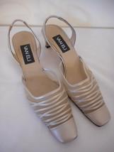 VANELi VAN ELi 7.5 S narrow Silvery cream Womens 1 3/4 heel sling back S... - $39.59