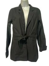 EXOFFICIO Caletta Collection Black Linen Jacket Travel Coat Size M (8-10) - $49.46