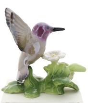 Hagen-Renaker Miniature Ceramic Bird Figurine Calypte Anna's Hummingbird image 1