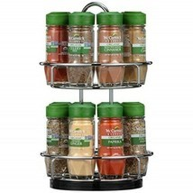 McCormick Gourmet Spice Rack 2 Tier Chrome Silver 16-Count Herbs Spices ... - £128.61 GBP