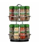McCormick Gourmet Spice Rack 2 Tier Chrome Silver 16-Count Herbs Spices ... - $157.90