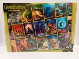 """NEW Goosebumps Classic Book Covers Jigsaw Puzzle 275 Pieces 24""""x 18"""" Age... - $32.66"""