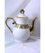 Royalty China Joseph Sedgh Collection Fleur De Lis 8 Cup Coffee Pot - $50.39