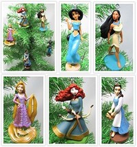 Princess Themed Christmas Tree Ornaments Featuring Princess Belle, Merida - $46.17