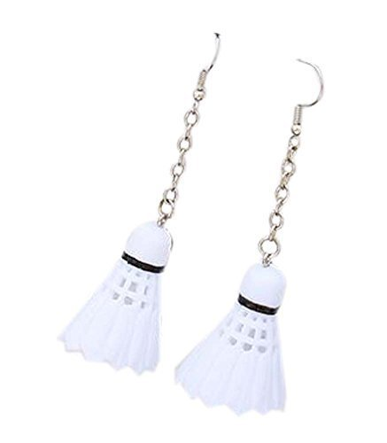 Sports Style Badminton Earrings Stylish Individuality Earrings, 2 Pairs