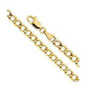 """Gold Cuban Chain Necklaces Crafted from 14K Yellow Gold-16""""-24"""" - $80.41+"""
