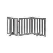 unipaws Freestanding Wooden Dog Gate, Foldable Pet Gate with 2PCS Suppor... - $87.23