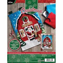 """Bucilla Felt Wall Hanging Kit, 15"""" x 21.5"""", Santa's Reindeer Barn - $33.99"""
