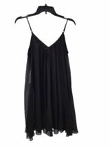 NWT NEW Women Black Express Spaghetti Strap Summer Mini Slip Dress Size S image 5