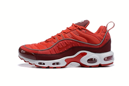 NIKE AIR MAX PLUS Men's Running Shoes White / Red - $168.29
