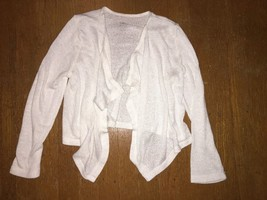 ! childrens place crop jacket shrug Waterfall Cardigan top White knit sm... - $5.94