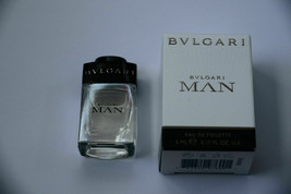 NIB Bulgari MAN Eau de Toilette Travel Mini 5 ml .17 oz Men`s EDT New - $8.95