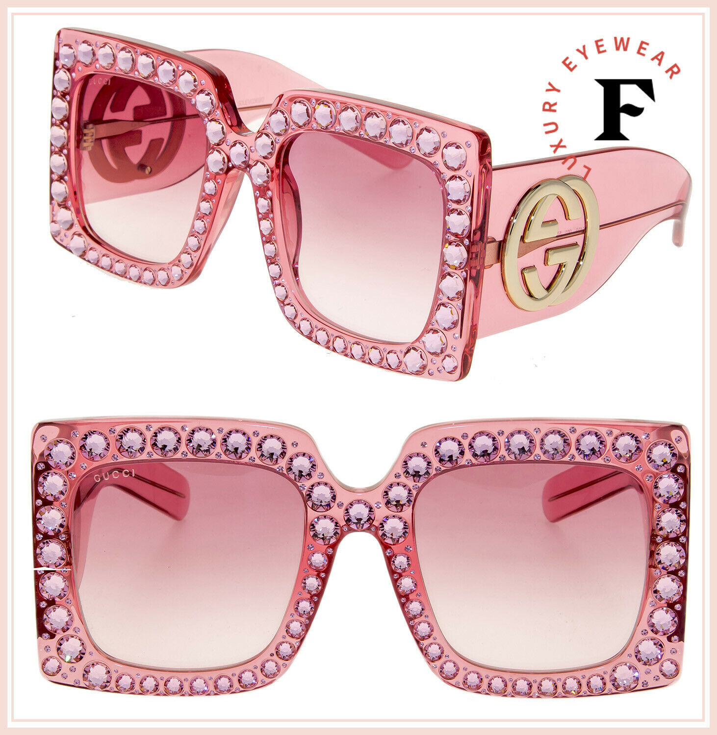 d65a9a46b2 Gucci Hollywood Forever 0145 Pink Crystal and 50 similar items