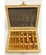 Router 7 Piece Decorative Edge Bit Set in Wood Case (B) Vintage Tools - $29.65