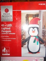 """Penguin in santa hat Airblown Inflatable 42"""". - $34.99"""