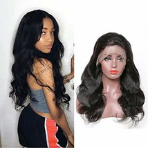 360 Human Wigs Preplucked 360 Lace Frontal Wig Body Curly Wave Bleached ... - $61.18