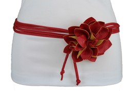 New Sexy Women Belt Fashion Hip High Waist Tie Fabric Wrap Flower Buckle... - $15.67