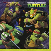 Teenage Mutant Ninja Turtles Lunch Large Napkins 16 ct TMNT - $3.79
